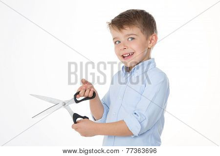 Kid With Scissors