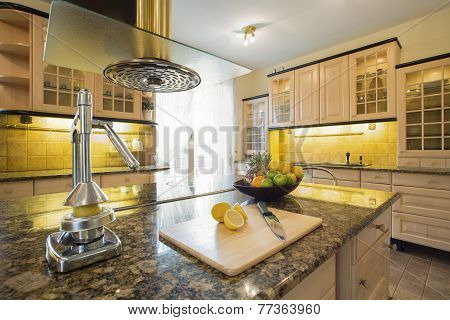 Squeezer On Granitic Countertop