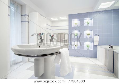 Washbasin In White Toilet