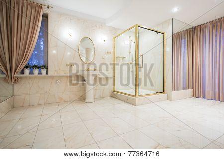 Luxury Bathroom In Contemporary House