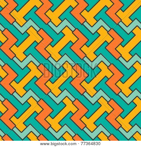 Geometric mosaic pattern. Vector seamless abstract vintage