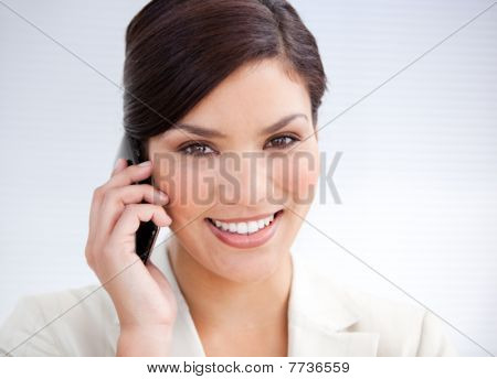 Confident Businesswoman Talking On Phone