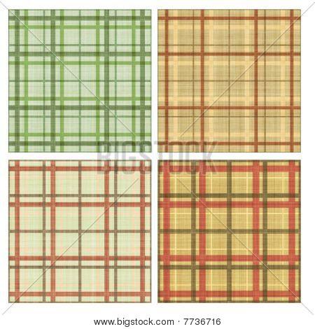 Seamless tiling plaid textures