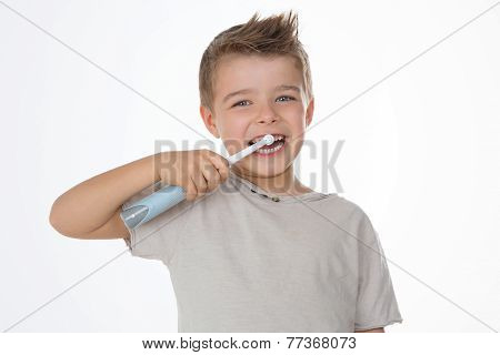 Happy Child On White Background