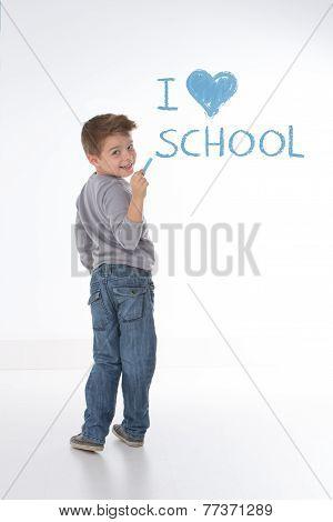 Smart Kid Looking Back
