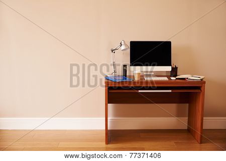 Computer On Desk In Home Office
