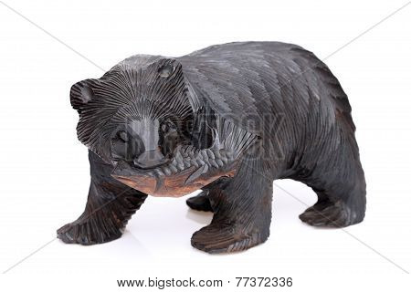Japanese souvenir wooden bear