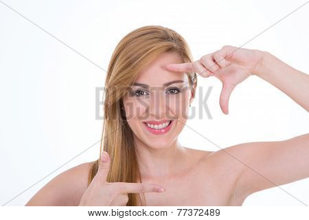 Girl Simulating Photo Shooting