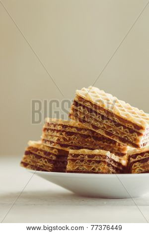 Sweet homemade wafer cakes