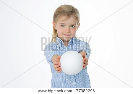 Closeup Of Cute Female Kid