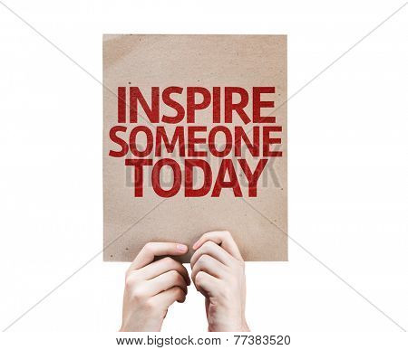 Inspire Someone Today card isolated on white background