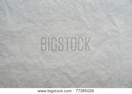 Textured Blank Crumpled Paper Of Light Gray Color