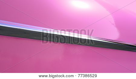Pink Car And Chrome Trim
