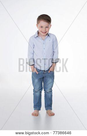 Nice Male Kid On Background