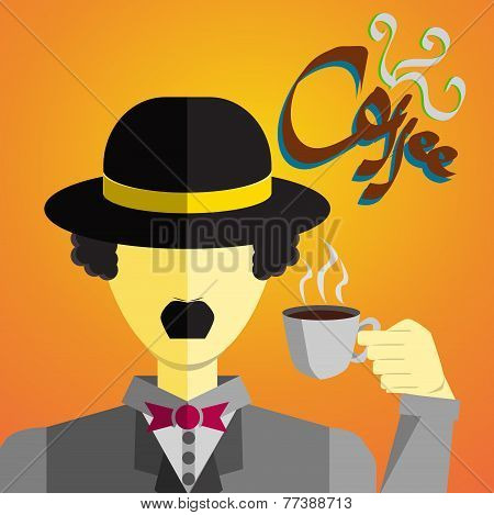 gentlemen drink a cup of coffee