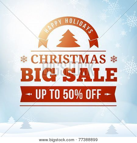 Christmas Big Sale Poster Background