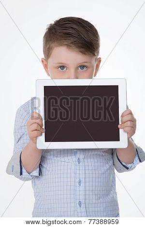 Nice Child Loves Technology