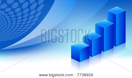 economic graph blue background