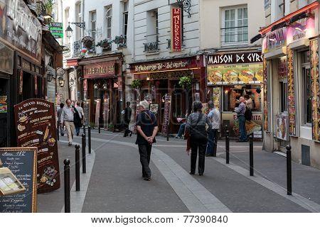 Latin Quarter of Paris France.