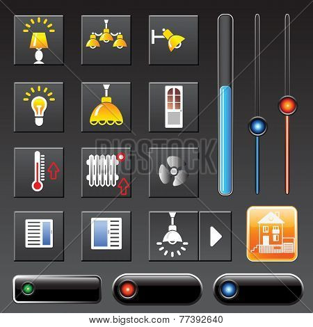 icons smart house