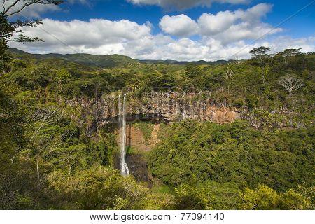 Beautiful Waterfall In Mauritius