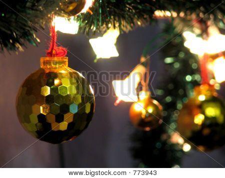 On the Christmas tree