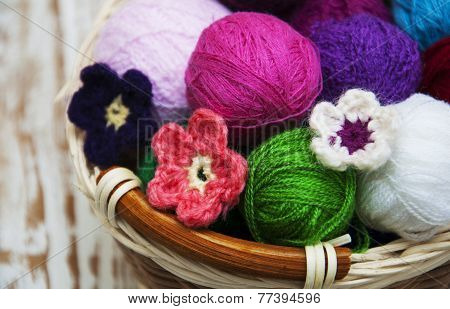 Color Woolen Clews