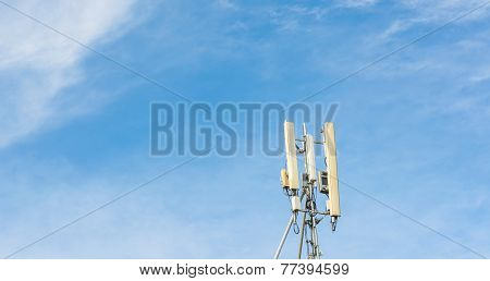 Image Of Tele-radio Tower With Blue Sky