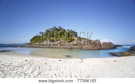 Little Island At Number One Beach, Seal Rocks, Myall Lakes National Park,