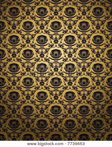 Golden_seamless _ornament