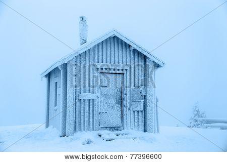 Frozen hut.