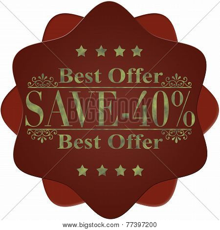 Best Offer Save -40%