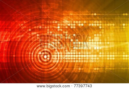 Electronica Technology Abstract as a Art Concept