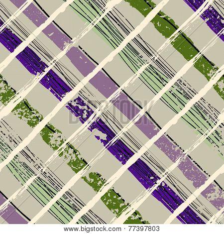 Grunge plaid pattern.
