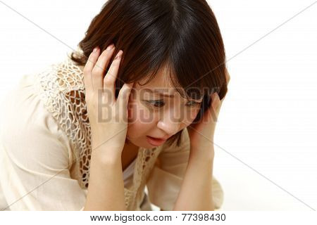 frustrated young woman