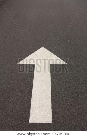Arrow On The Asphalt