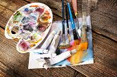 pic of canvas  - Professional acrylics paints in tubes - JPG