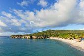 stock photo of curacao  - Grote Knip public Beach at Curacao - JPG