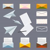 pic of collate  - conceptual set on the subject of postal letters - JPG