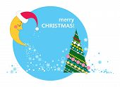 picture of crescent-shaped  - crescent in the cap of Santa Claus - JPG