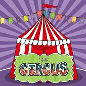 image of awning  - Circus tent poster template - JPG