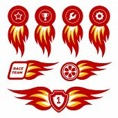 image of designated driver  - Flame stickers for racing - JPG