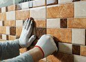picture of ceramic tile  - Laying Ceramic Tiles - JPG