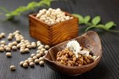 picture of soy bean  - studio shot of Japanese fremented soy beans  NATTO - JPG