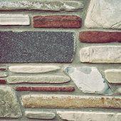 foto of granite  - Ancient wall - JPG