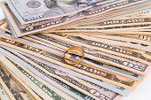 stock photo of two dollar bill  - Dollar Bills - JPG