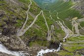 image of troll  - Trollstigen road called the Troll - JPG