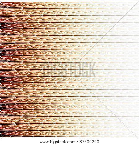 Symmetrical Red Fractal Flower, Digital Logarithm