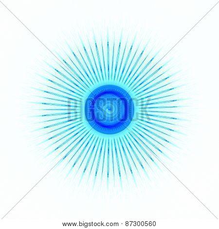 The eye of God - Solar Eclipse blue