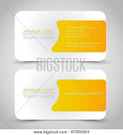 Orange business card set template